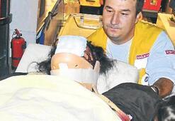Kazada yaralanan kadın kız doğurdu