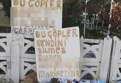 Sokağa çöp atan komşunu ismiyle deşifre etti