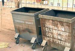 Türkçe- Kürtçe çöp bidonları