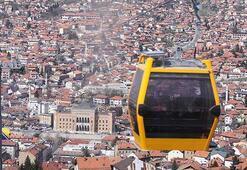 Saraybosnanın sembollerinden teleferik yeniden açıldı