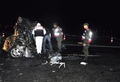 LPG'li 2 araç çarpıştı, 6 kişi yanarak öldü