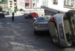 İş makinesi caddeyi birbirine kattı