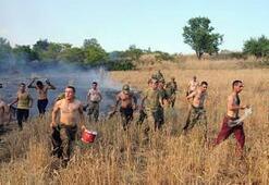 İtfaiye gecikince yangını askerler söndürdü