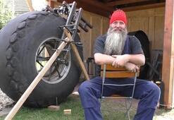 1 tonluk bisiklet yaptı