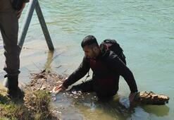 Jandarmadan yüzerek kaçmaya çalışan Suriyeli göçmen pişman oldu