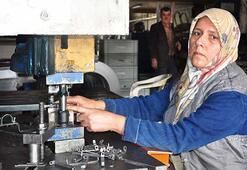 Metale şekil veren kadın patron azmiyle erkeklere taş çıkarıyor