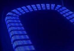 Başakşehirin stadı mavi ışıkla aydınlatıldı