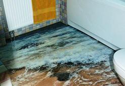 3 boyutlu banyo zemini