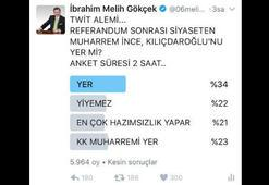 Melih Gökçek Kılıçdaroğlunu kızdıracak anket yaptı