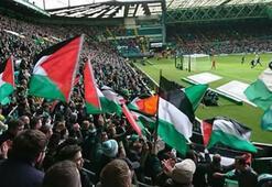 Celtic taraftarlarından Filistine destek