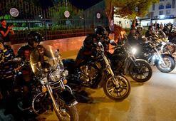 Türk Chopper Motosiklet Kulübü üyelerinden Kilise ziyaret