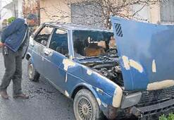 Güpegündüz araba ve depo yaktılar