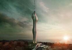 Çamlıca Kulesinin 160 metrelik anteni kule içinde monte ediliyor