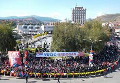 Son dakika... Erdoğanı Türk bayraklarıyla karşıladılar