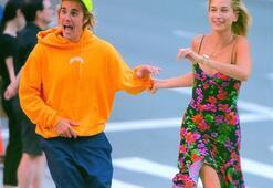 Justin Bieber ve Hailey Baldwinin eğlenceli anları