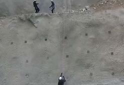 Dev barajın inşaatında profesyonel dağcılar da çalışıyor