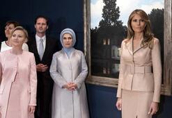 Emine Erdoğan NATO zirvesine katılan lider eşleriyle buluştu