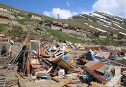 Rizede yaylacılara şok: Hortumda yıkılan evlerin yeniden yapılması yasak