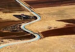 221 kilometrelik bereket kanalına deneme suyu bırakıldı