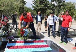 Trabzonspordan Petar Milosevskinin mezarına ziyaret
