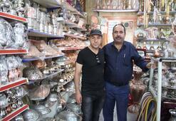 Antepin bakır işlemeciliği İranlıların evlerini süslüyor