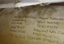 Rakete wurde mit den Namen der Gefallenen signiert