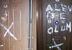 Alevilerin evine korkutan işaret