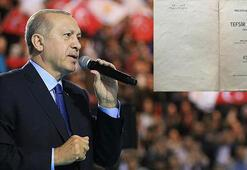 Cumhurbaşkanı Erdoğan tesadüfen bulunan 45 yıllık ders kitabını istedi