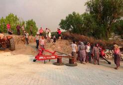 Orman yangını sebebiyle Misvak Köyü boşaltıldı