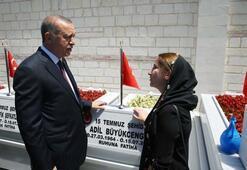 Cumhurbaşkanı Erdoğan 15 Temmuz Şehitliğini ziyaret etti