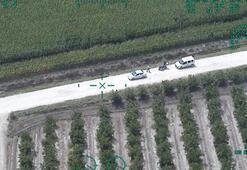 Helikopter yol gösterdi, polis ekipleri mısır tarlasına daldı