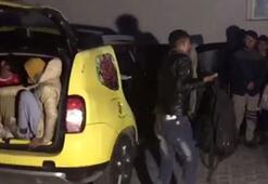 Ticari taksiden 12 kaçak çıktı