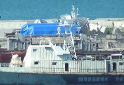 Son dakika... Rusyanın Kırıma getirdiği türbinler fotoğraflandı