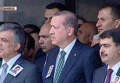 Erdoğan ve Gül şehit için düzenlenen törende...