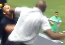 Kostarika teknik direktörü Wanchope güvenlik görevlisiyle kavga etti