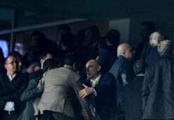 Trabzon-Bursa maçında protokol tribününde kavga çıktı