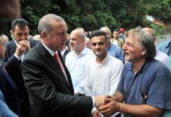 Erdoğan AK Partli yöneticinin ailesine taziye ziyaretinde bulundu