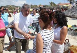 CHP, İhsanoğluna plajda oy istedi