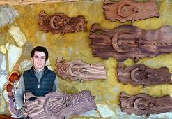 Babasından öğrendiği doğrama tahtası işinin atölyesini kurdu