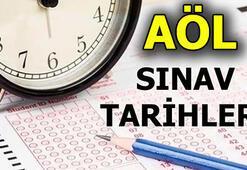 AÖL sınavları ne zaman 2. Dönem AÖL sınav tarihleri...