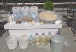 Esenyurttaki uyuşturucu imalathanesine baskın