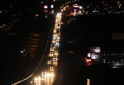 Trafikte bayram dönüşü yoğunluğu