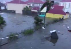 Son dakika... Irma Kasırgası yıkıp geçiyor İlk görüntüler geldi...