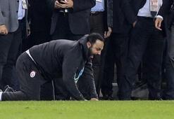 Hasan Şaş, kaçan gol sonrası çılgına döndü