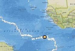 Atlantik Okyanusunda çok şiddetli deprem