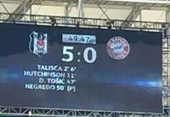 Beşiktaş 50. dakikada 5-0ı yakaladı
