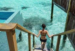 Lüks tatilin fotoğrafları sosyal medyada