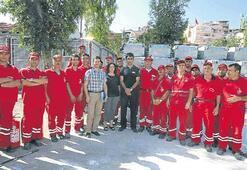 Belediye çalışanlarına yangın eğitimi verildi