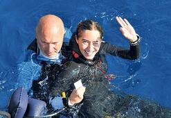 Şahika Ercümen  65 metreye daldı