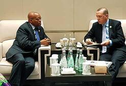 Erdoğan, Güney Afrika Devlet Başkanı ve Hindistan Başbakanıyla görüştü